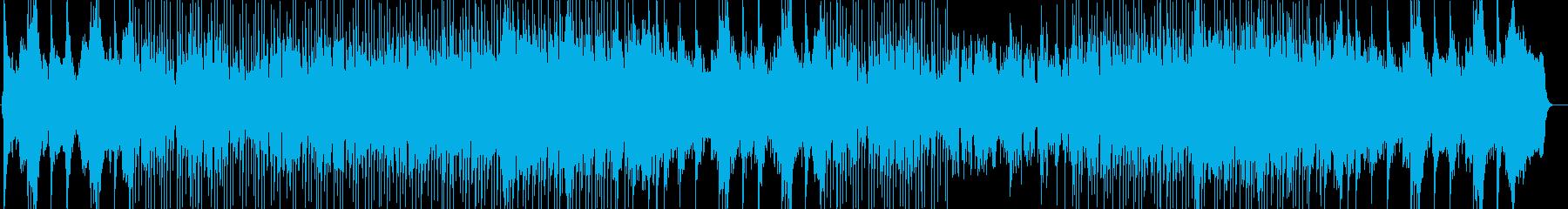 爽やかなシンセ・ピアノなどのサウンドの再生済みの波形