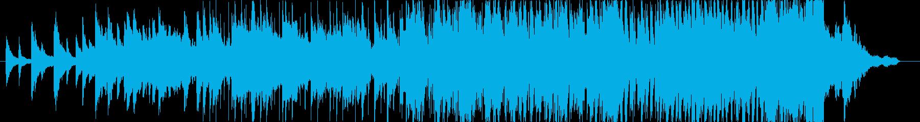 ピアノとシンセの神秘的なBGMの再生済みの波形