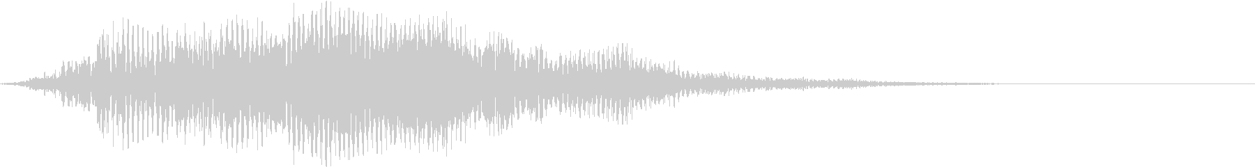 不気味な怪物の鳴き声dの未再生の波形