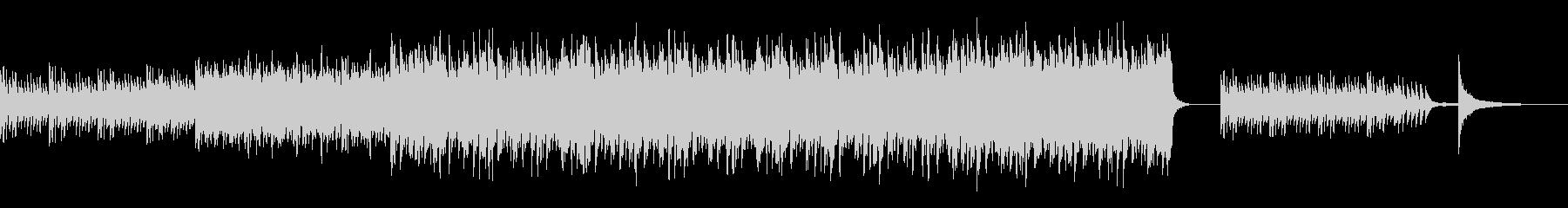 ピアノとストリングスの優しいBGMの未再生の波形
