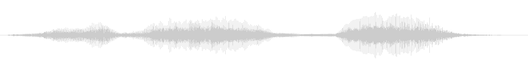 「ごめんね」の未再生の波形