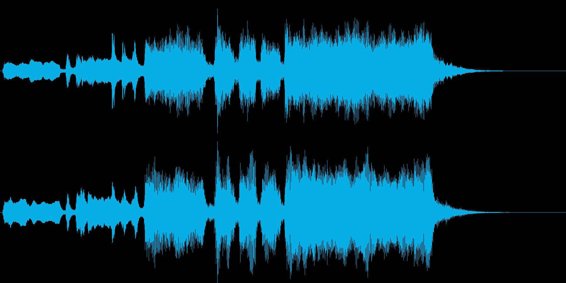 期待感が高まるシンプル金管ファンファーレの再生済みの波形
