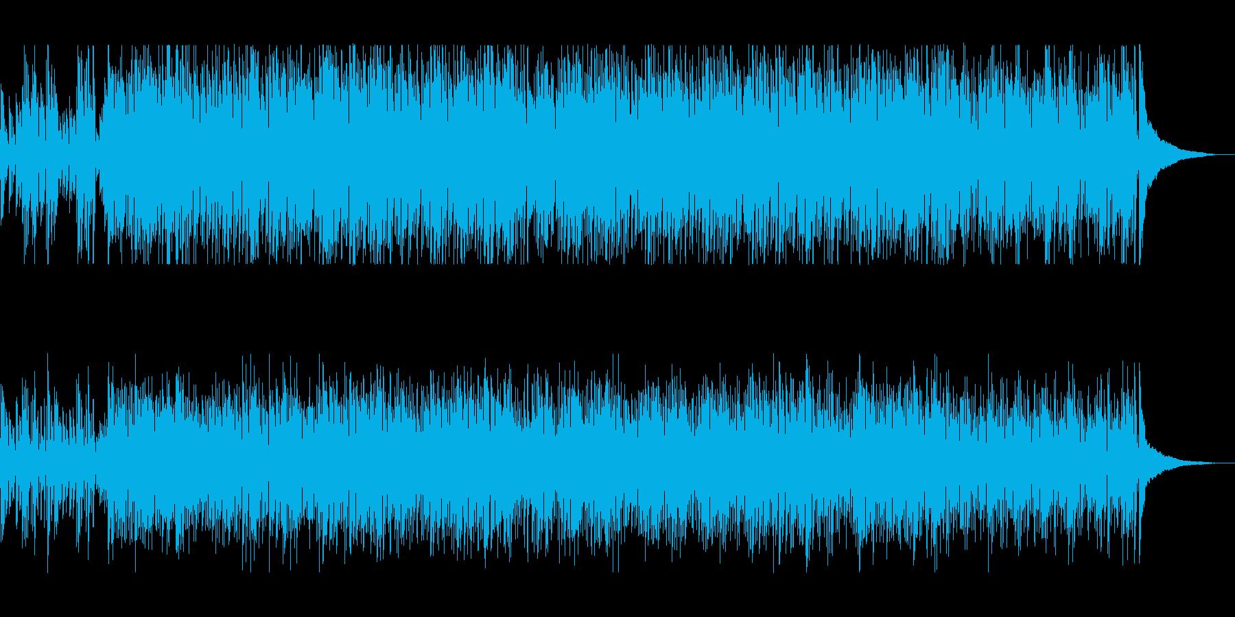 ギターとピアノが心地よいボサノバの再生済みの波形