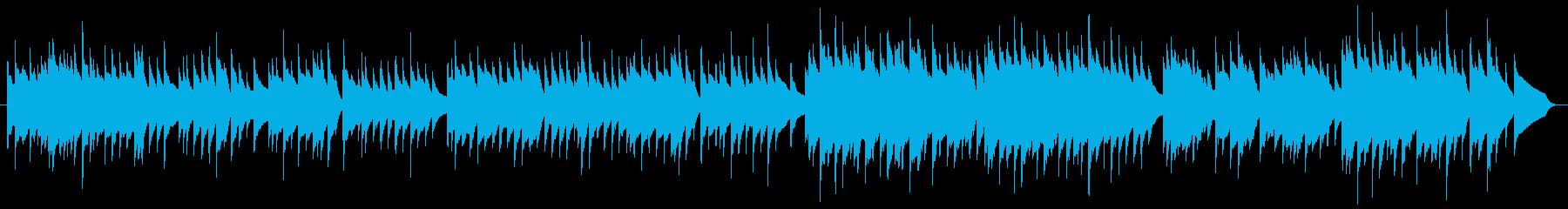 オルゴール風のせつないBGMの再生済みの波形
