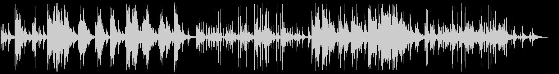 静かで落ち着いたピアノBGMの未再生の波形