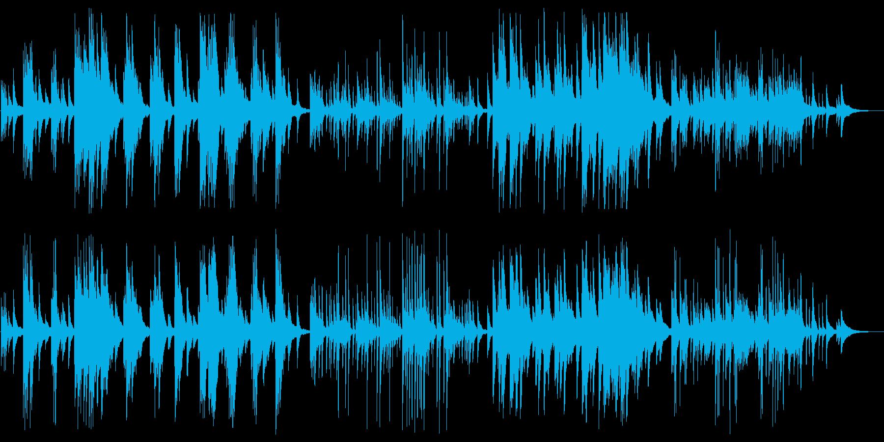 静かで落ち着いたピアノBGMの再生済みの波形