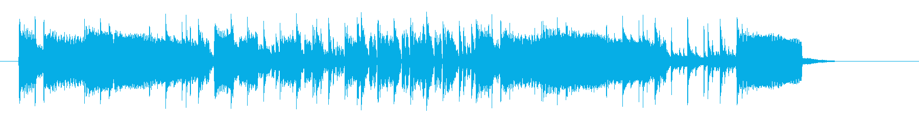 ミディアムテンポの軽快なポップスの再生済みの波形