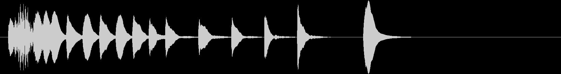 マリンバ ほのぼの 軽快なジングルの未再生の波形