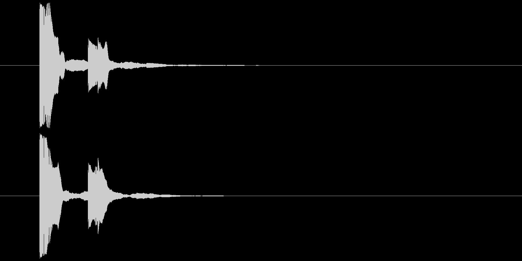 矢印表示音の未再生の波形