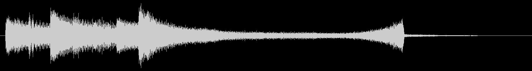 ピアノジングルの未再生の波形