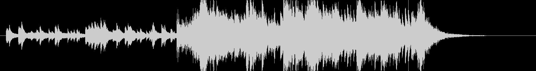 印象的なオープニング静→動オーケストラ の未再生の波形