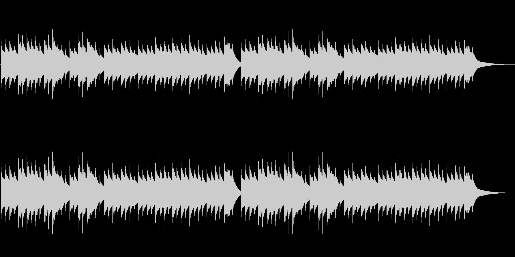 こぎつね(オルゴール)の未再生の波形