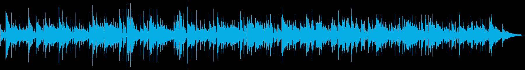 ボサノバ風のクラシックギターのジングルの再生済みの波形