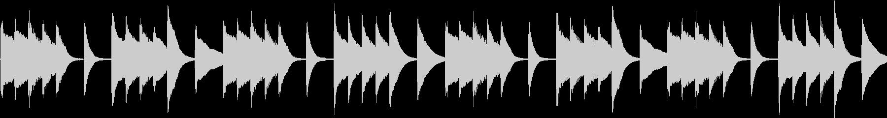 シンプル 洗練 和風ピアノ 【ループ】の未再生の波形