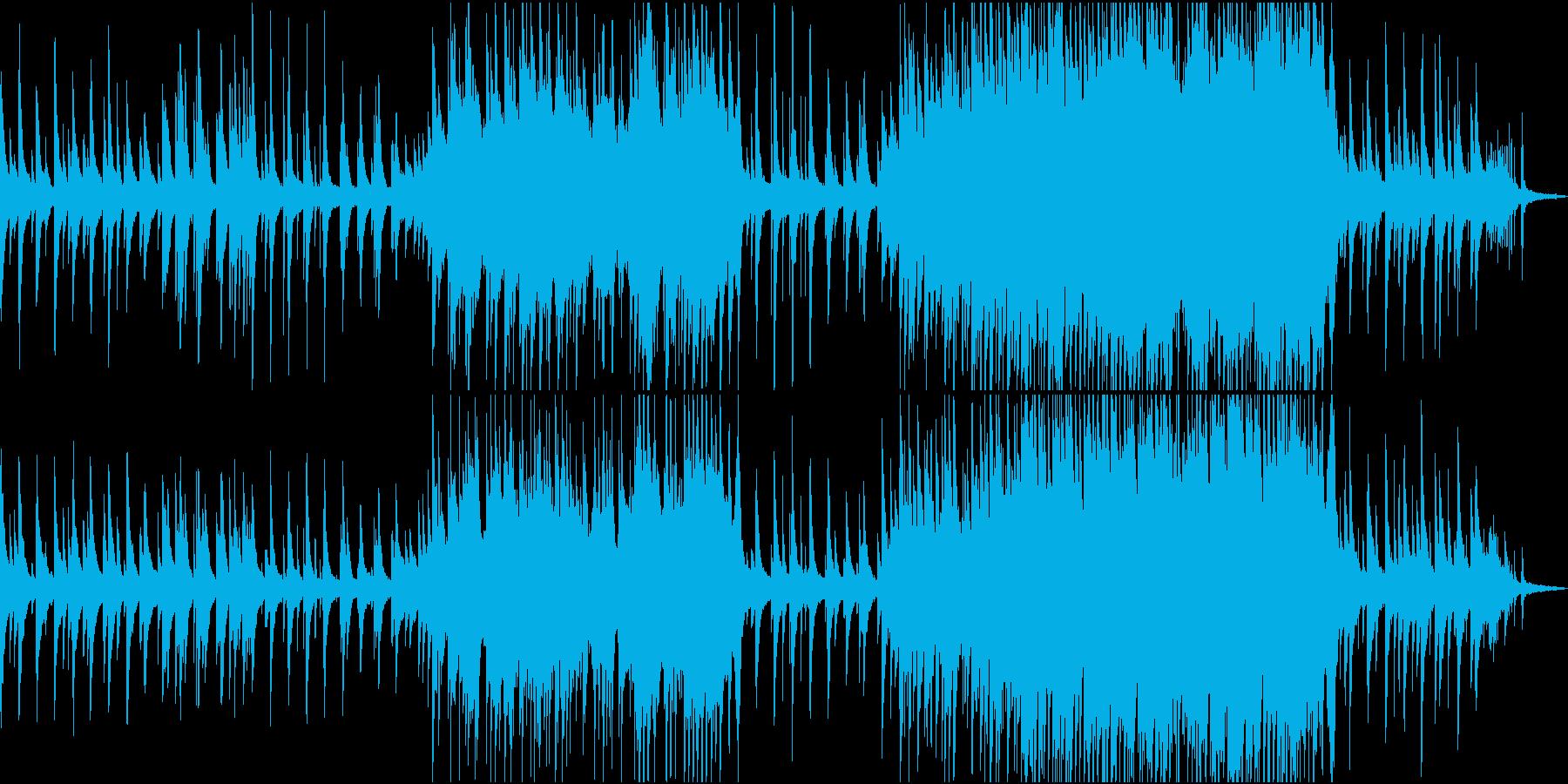 映画・ドラマ等で使用されるような楽曲の再生済みの波形