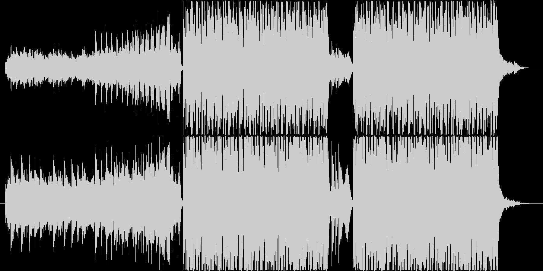 明るく楽しいエレクトロポップの未再生の波形