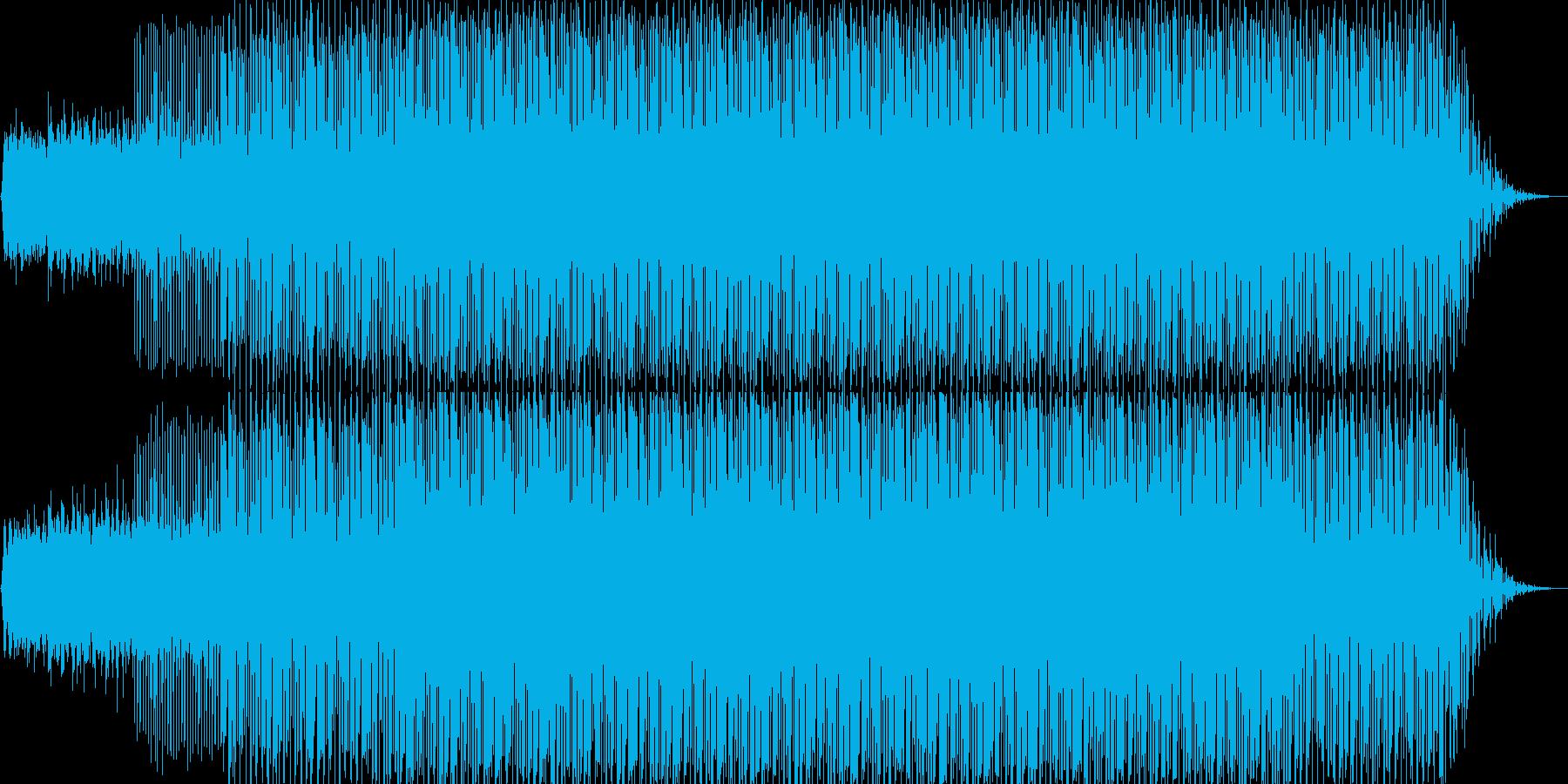 アンビエントなエレクトロハウスの再生済みの波形