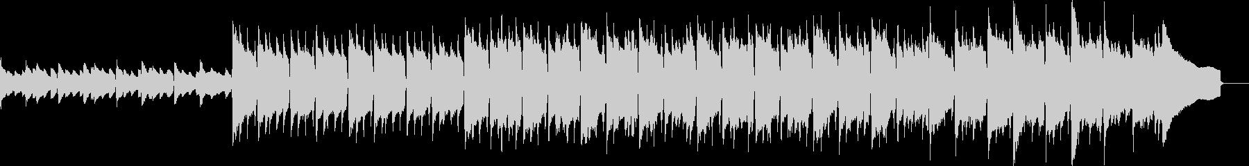 アコギとピアノの前向きなアコースティックの未再生の波形