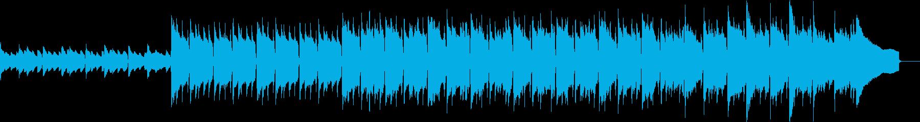 アコギとピアノの前向きなアコースティックの再生済みの波形