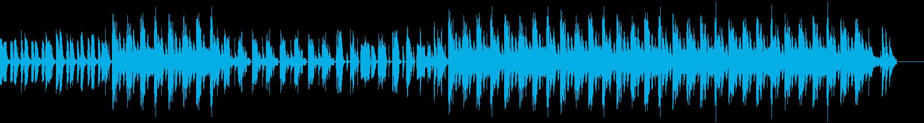 アフリカ大陸の音楽っぽいBGMの再生済みの波形