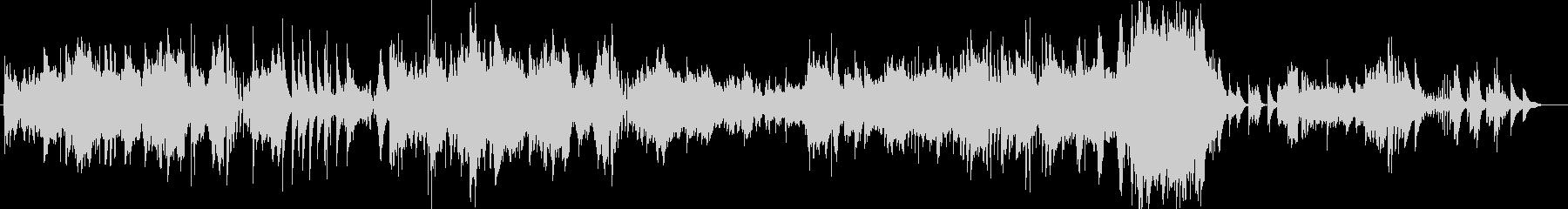 繊細なピアノの音が印象的なピアノBGMの未再生の波形
