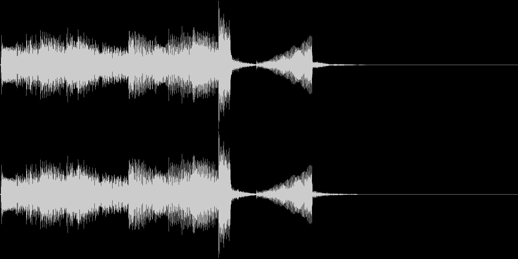 エレキギターのクリーンなアルペジオの未再生の波形