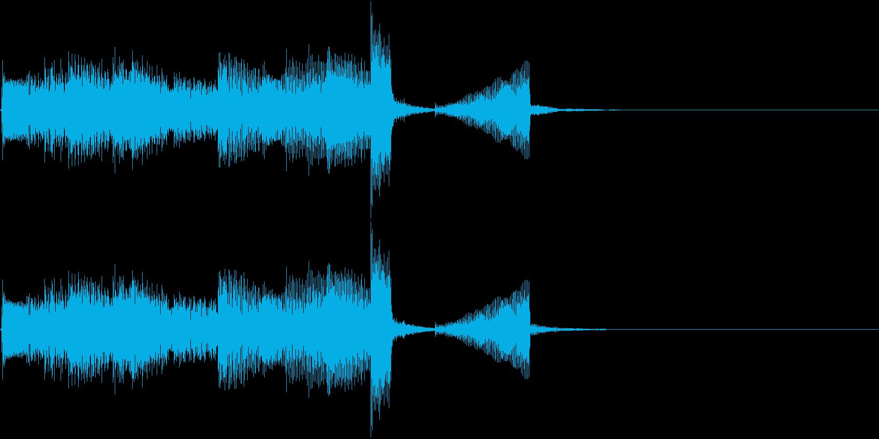 エレキギターのクリーンなアルペジオの再生済みの波形