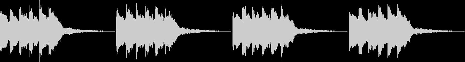 シンプル ベル 着信音 チャイム B-5の未再生の波形