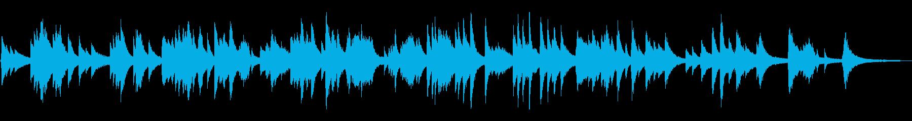 ゆったり静かなジャズ風ラウンジピアノソロの再生済みの波形