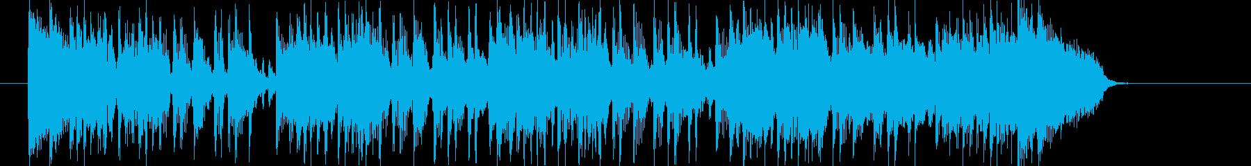 激しくノリが良いロックナンバーの再生済みの波形