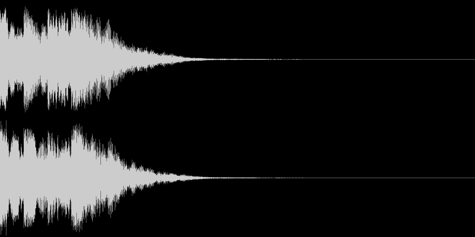 ニュースのテロップをイメージした音07の未再生の波形