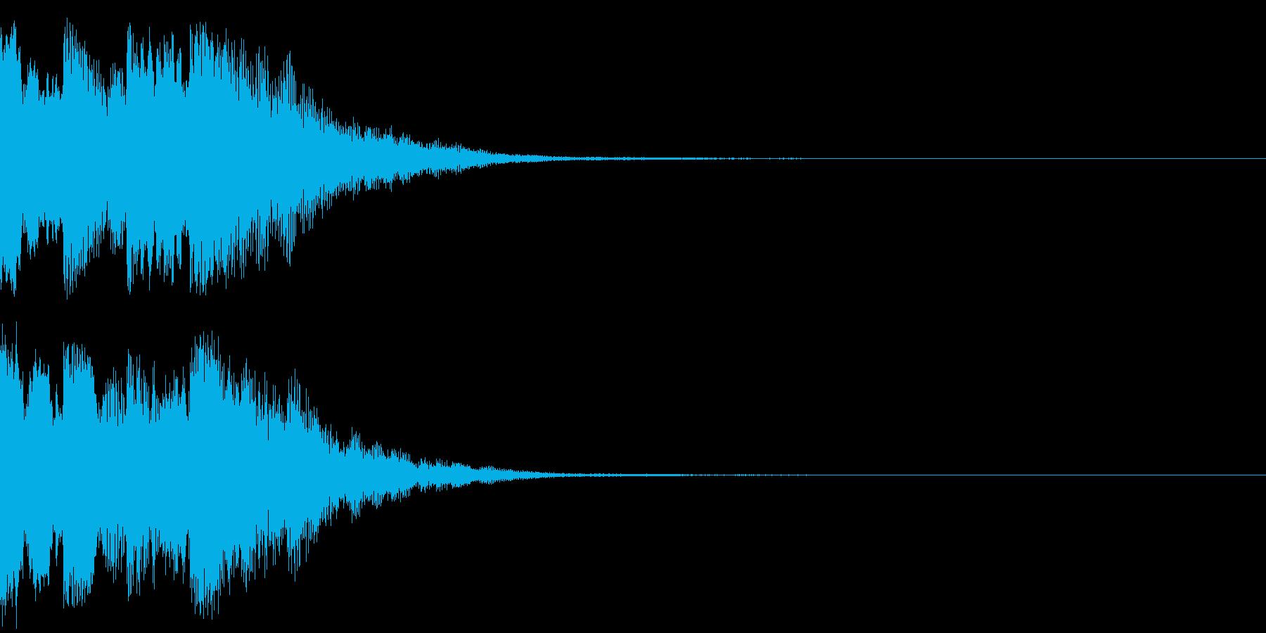 ニュースのテロップをイメージした音07の再生済みの波形
