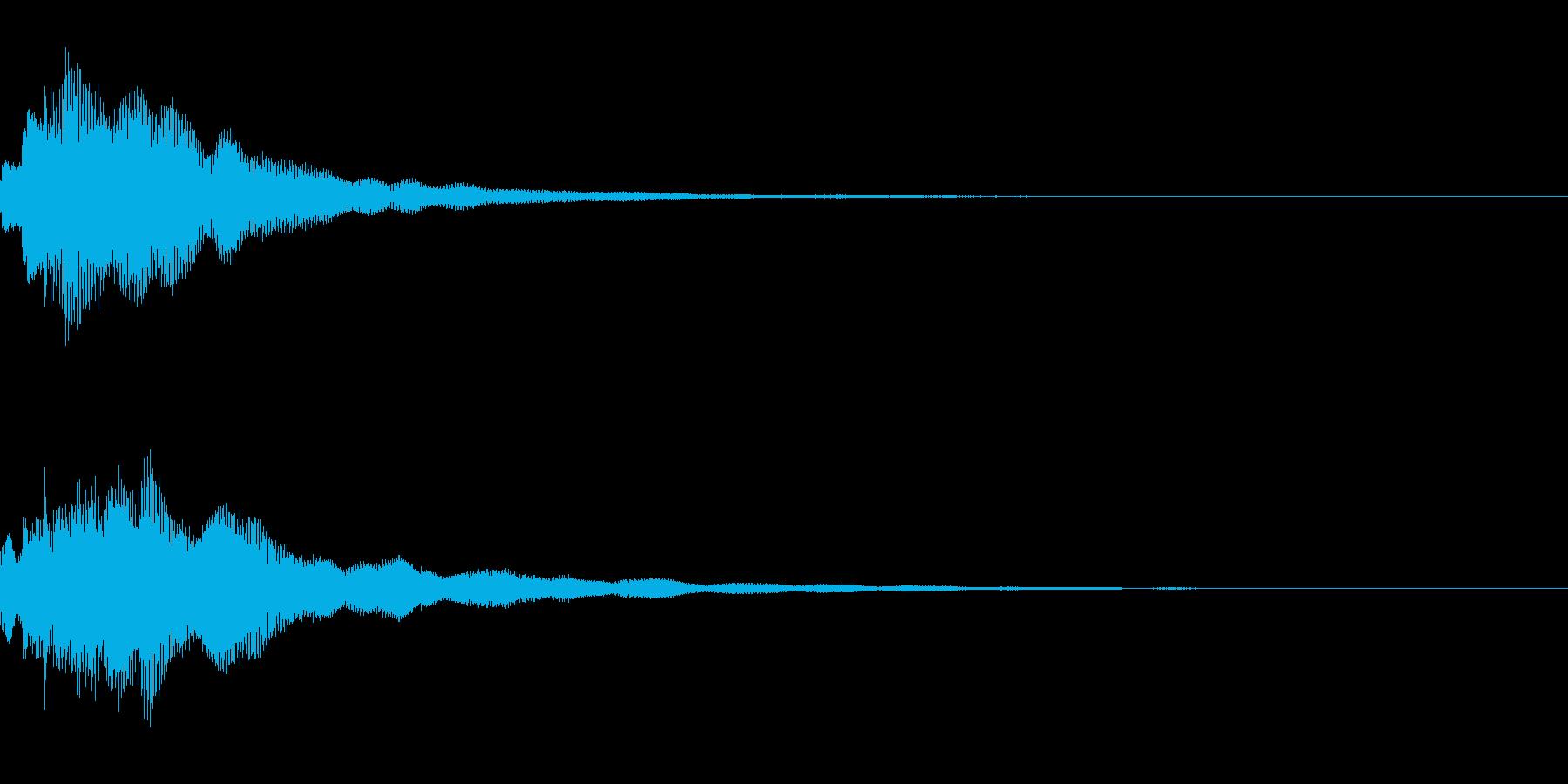 決定音。「テレーン」の再生済みの波形