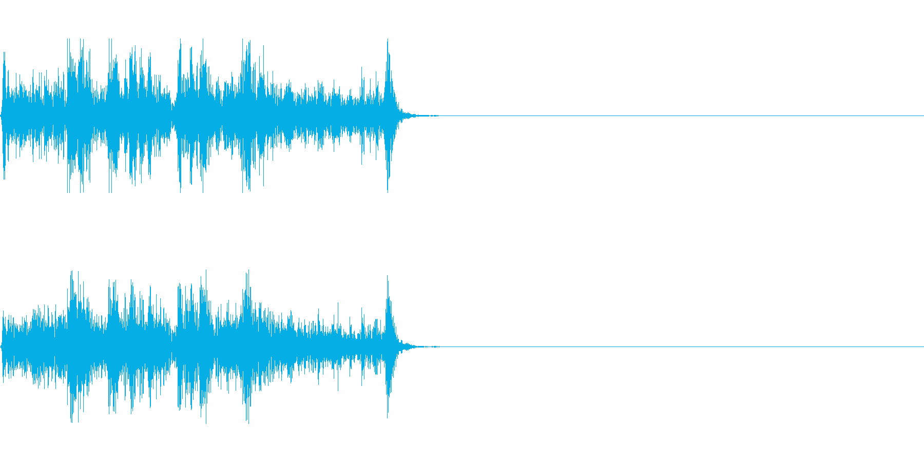 カメラ/シャッター/撮影/記念/パシャの再生済みの波形
