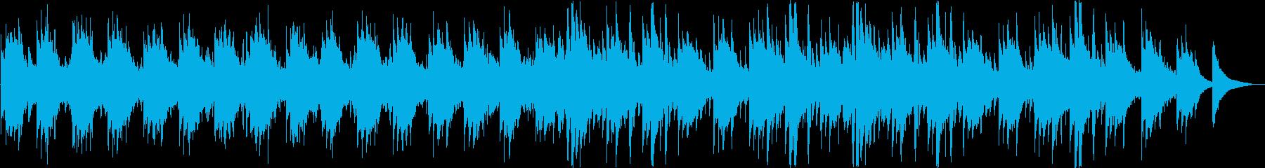 ゆったりとしたシンセ・ピアノなどの曲の再生済みの波形