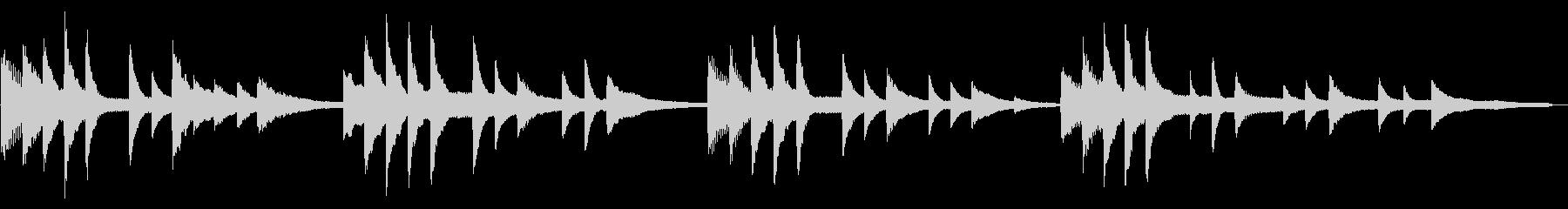 おだやかな波の様子を表現したピアノソロの未再生の波形