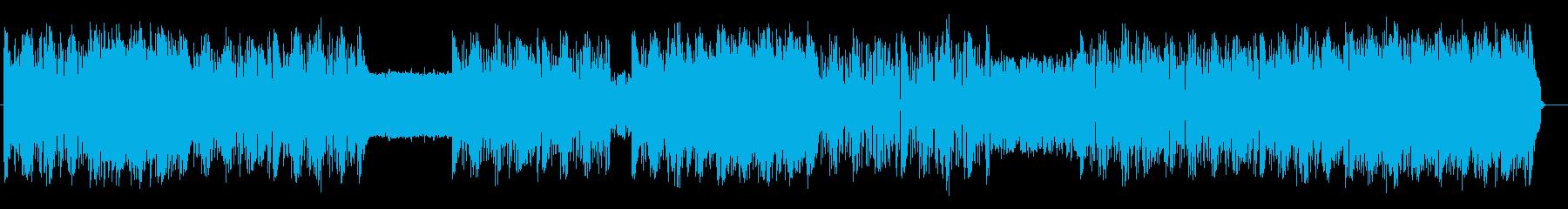 様々な音が耳に楽しい躍動感あるテクノの再生済みの波形