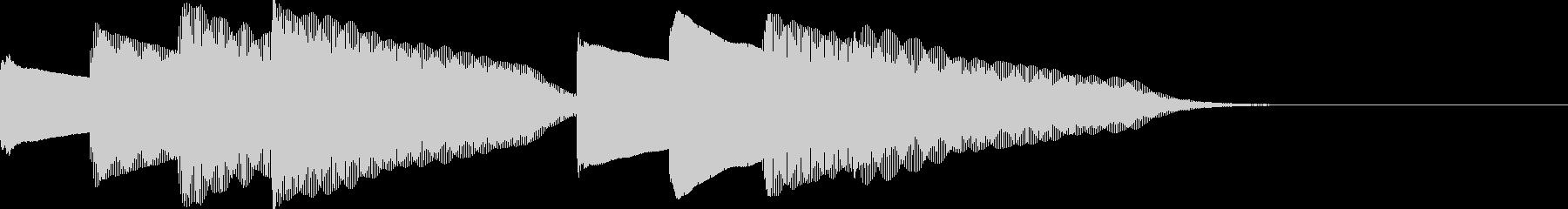 ピンポンパンポン。上向、下降。鉄琴の未再生の波形