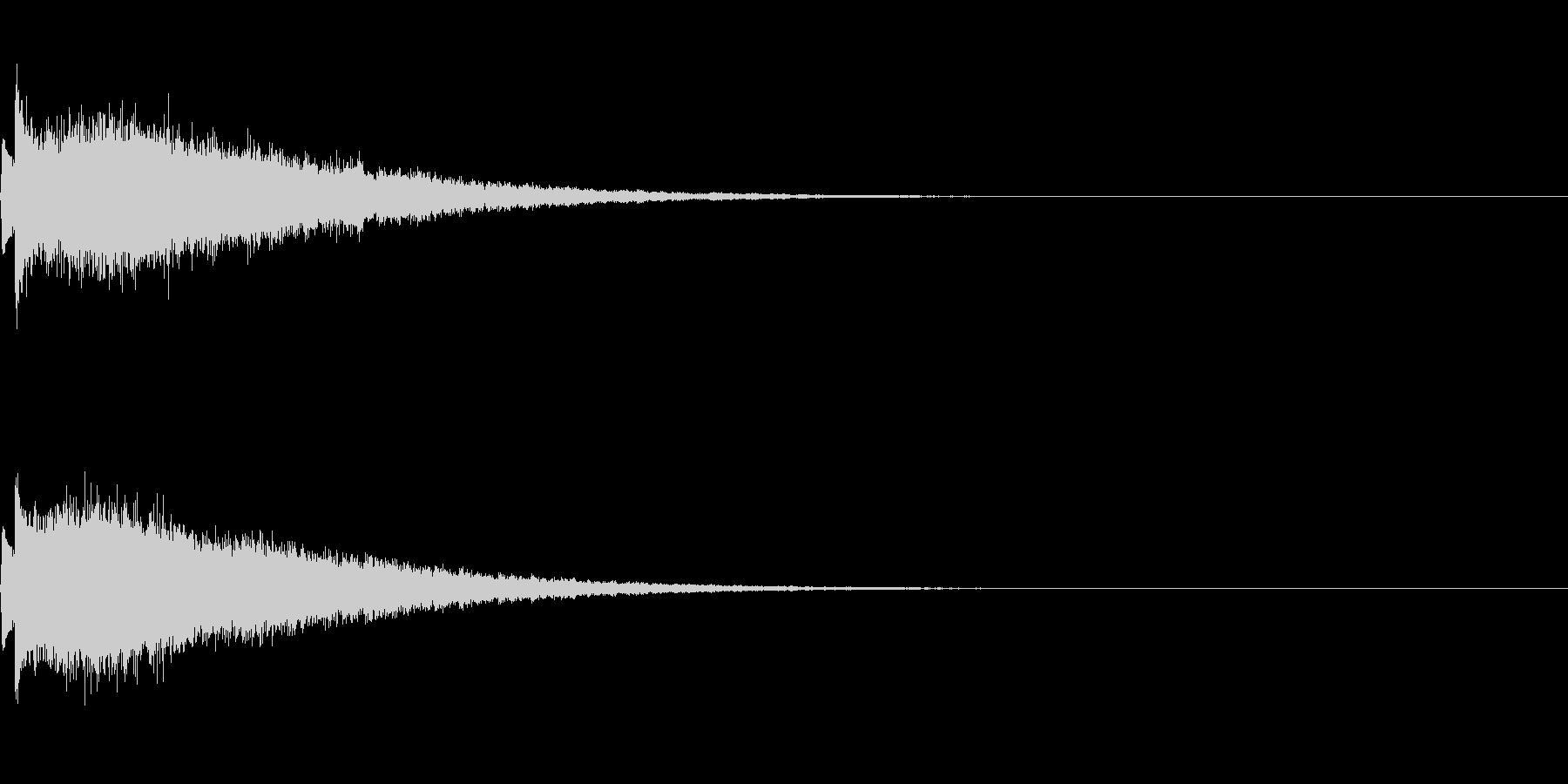 かわいい系 キラキラ系 光る音09の未再生の波形