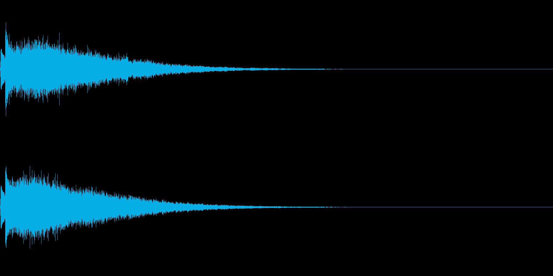 かわいい系 キラキラ系 光る音09の再生済みの波形