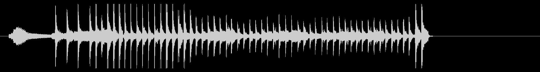 和風ジングル 風流アイキャッチの未再生の波形