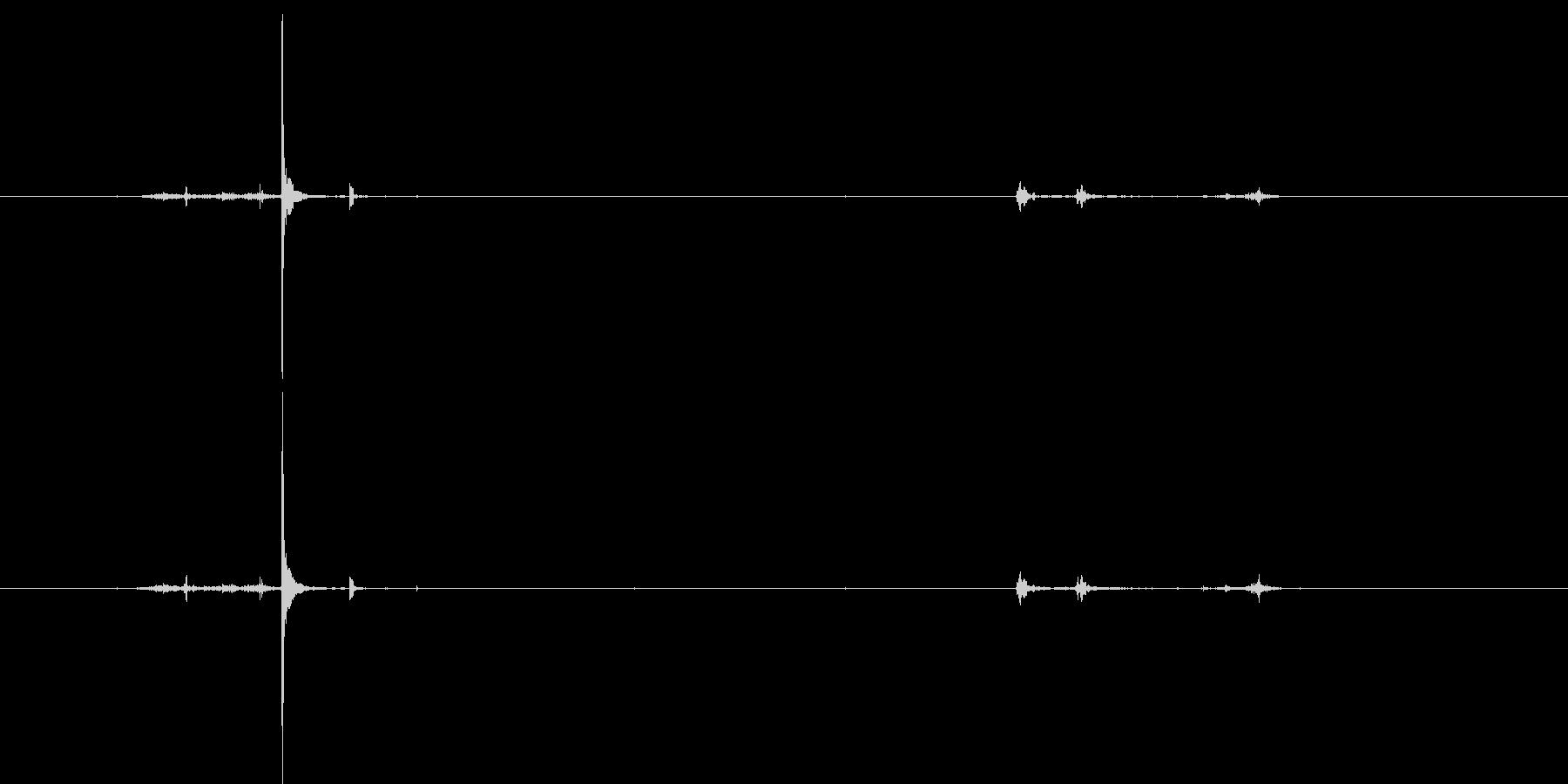 傘の開閉の未再生の波形