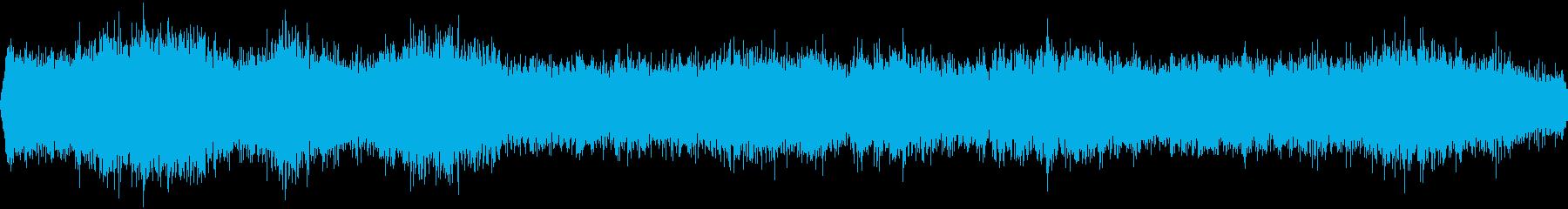 車の通る音の再生済みの波形
