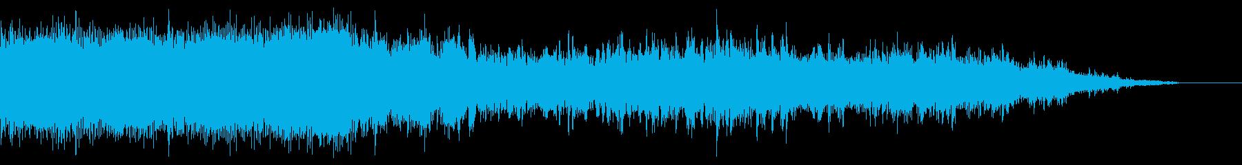 ブオーン!キイキイ…チンチン電車の一コマの再生済みの波形
