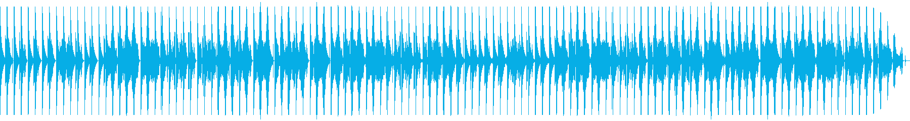 ロールが多めのボイスパーカッションの再生済みの波形