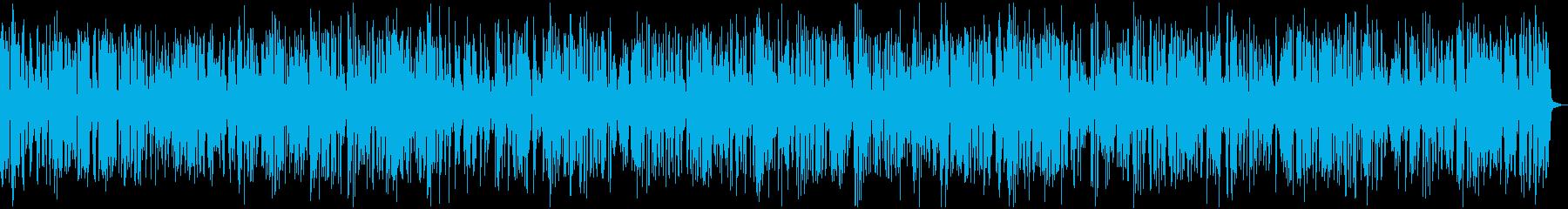 カフェBGMおしゃれなジャズピアノの再生済みの波形