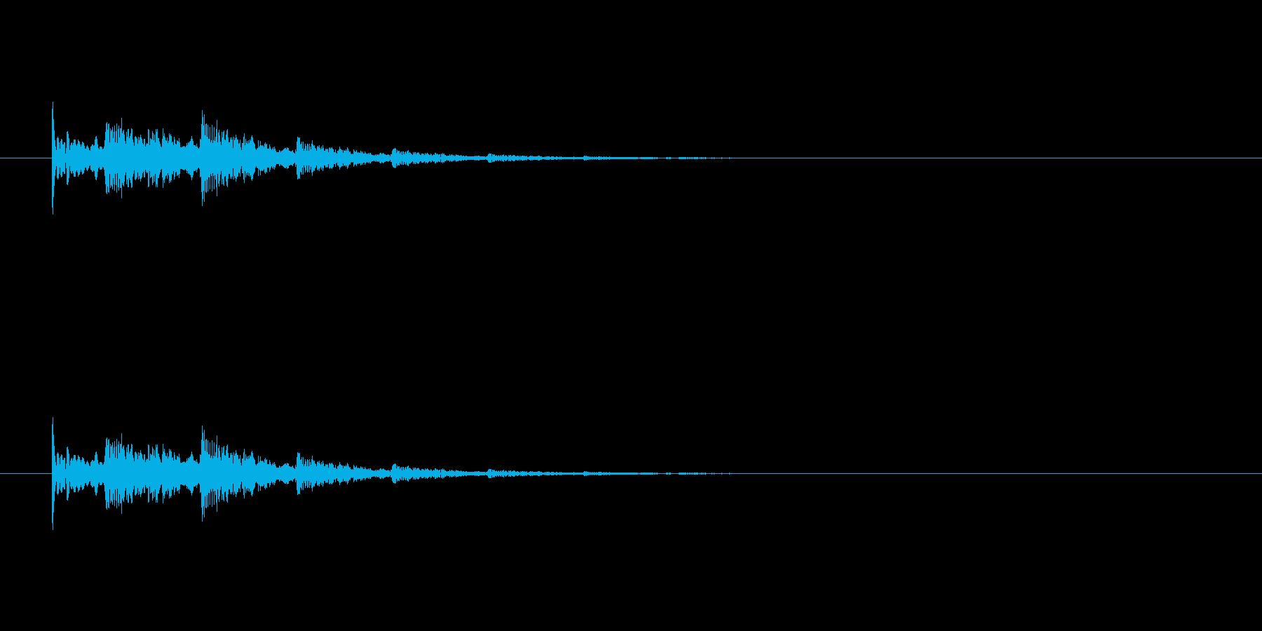 【アクセント33-4】の再生済みの波形