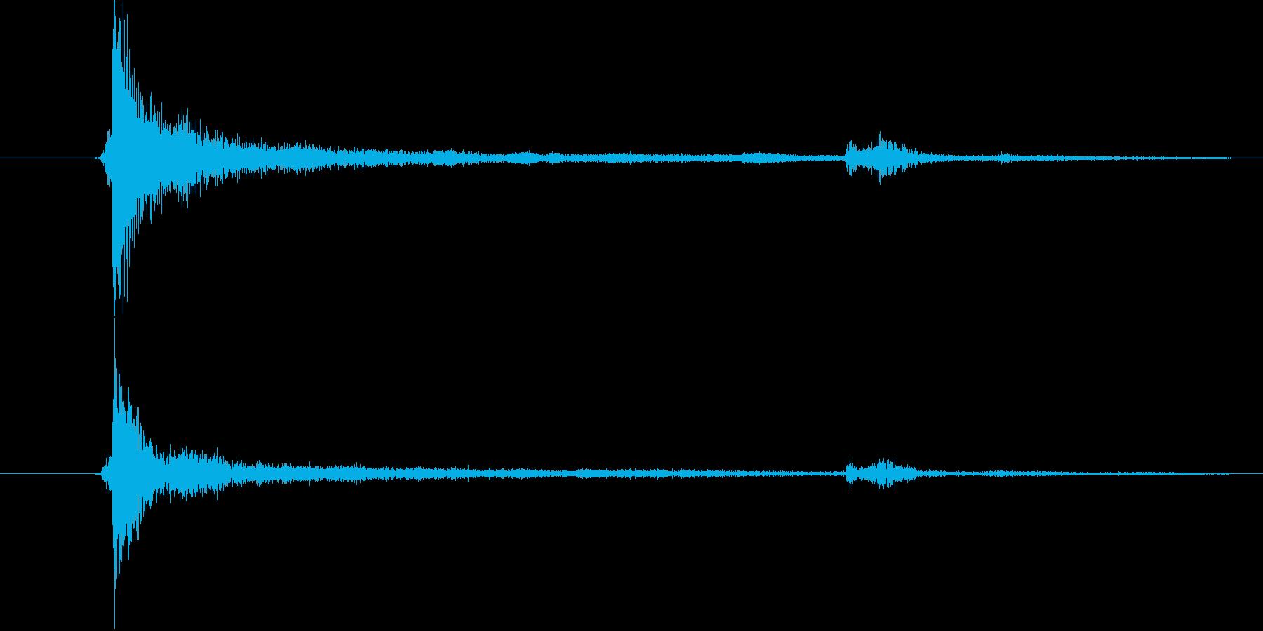 チーンの再生済みの波形