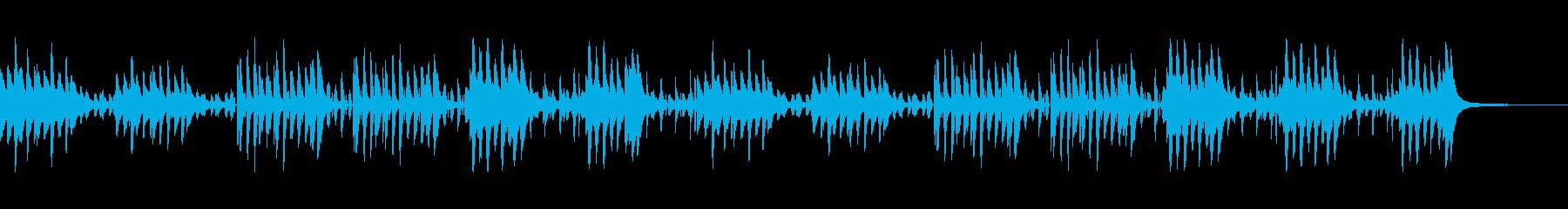 スキップしたくなるようなワクワクする曲の再生済みの波形