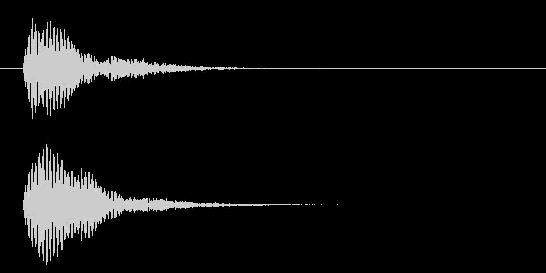 古いパソコンの終了音風ジングル3の未再生の波形